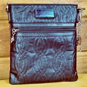 Bella Russo 🌺 Black Vegan Leather Crossbody Bag